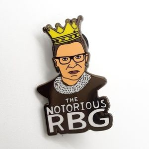 Jewelry - The notorious RBG Ruth Bader Ginsburg Pin Badge